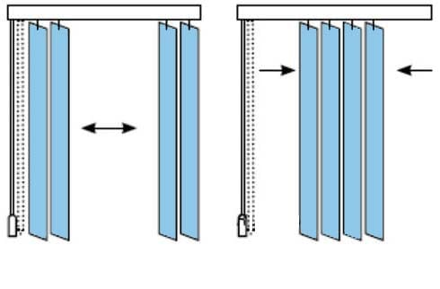 вертикални щори
