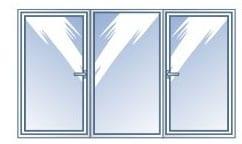 дограма за троен прозорец